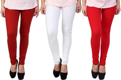 Legemat Girl,s Maroon, White, Red Leggings