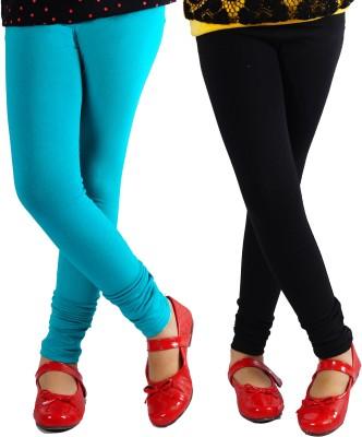 Naughty Ninos Girl's Black, Green Leggings