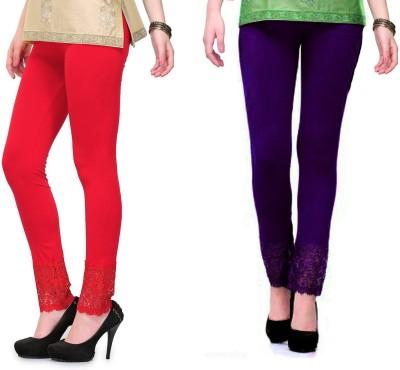 RobinRomeo Women's Purple, Red Leggings