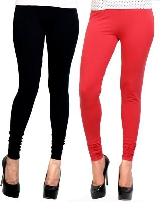 Design Classics Women's Red, Black Leggings