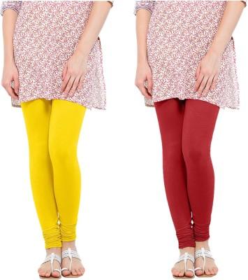 Oh Fish Women's Red, Yellow Leggings