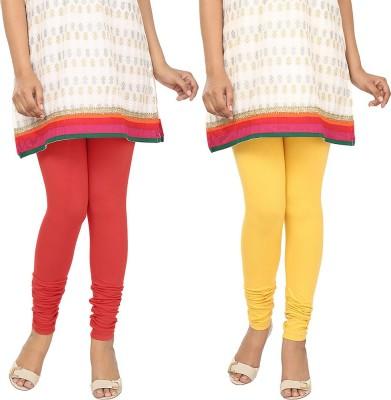 Agrima Fashion Women's Red, Yellow Leggings