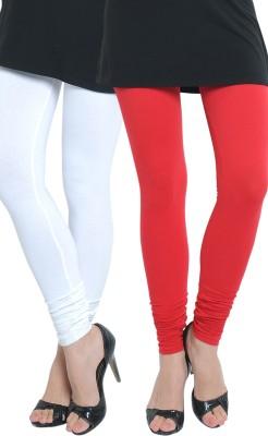 Tulsattva Women's Red, White Leggings