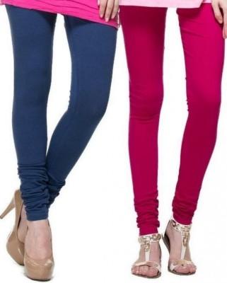 Zadine Women's Dark Blue, Pink Leggings