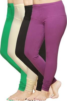 Pomelo Women's Green, Purple, Black, White Leggings