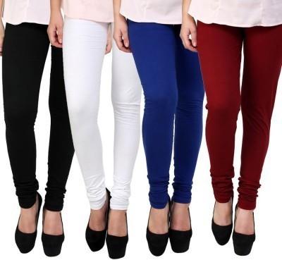 Beacon Enterprises Women's Black, White, Blue, Maroon Leggings