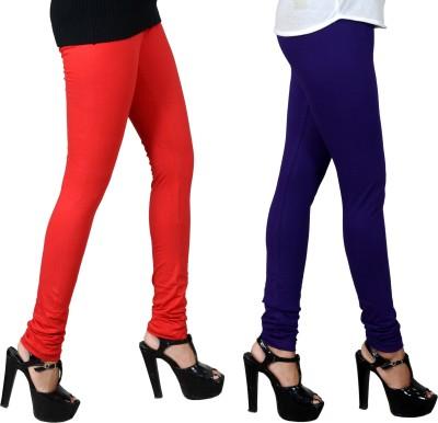 JSA Women's Red, Blue Leggings