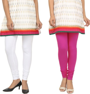 Agrima Fashion Women's White, Pink Leggings