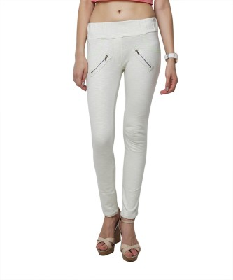 Yepme Women's White Jeggings