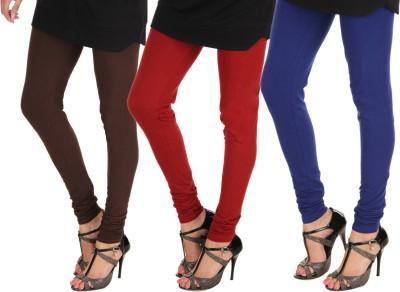 Itnol International Women's Brown, Maroon, Blue Leggings