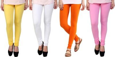 Legemat Girl,s Yellow, White, Orange, Pink Leggings