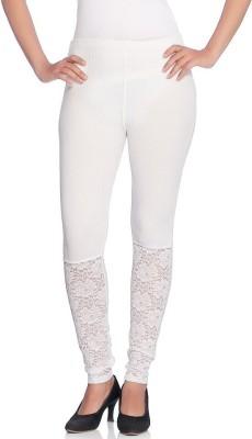 Vanita Women's White Leggings