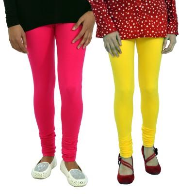 Femninora Women's Yellow, Pink Leggings