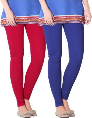 Nice Fit Women's Red, Blue Leggings