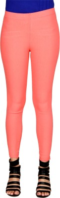 Sheenbottoms Women's Orange Jeggings