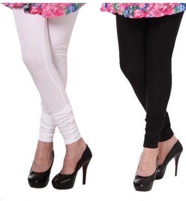 MTL Women's White, Black Leggings