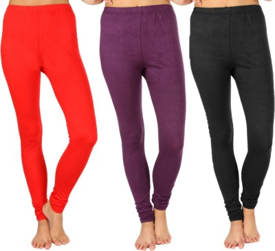 SLS Women's Red, Purple, Black Leggings