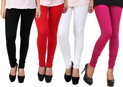 Dharamanjali Women's Black, Pink, Red, White Leggings