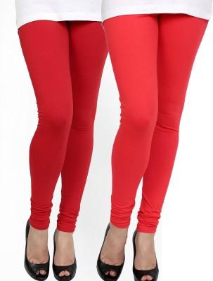 Zavlin Women's Red, Orange Leggings