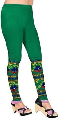 Heena Fashion Women's Green Leggings