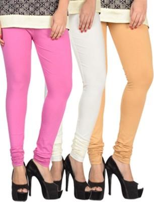 17.Hills Womens Pink, White, Beige Leggings