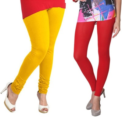 VP Vill Parko Women's Red, Yellow Leggings