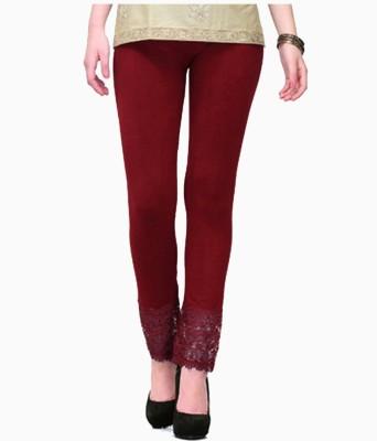 MDS Jeans Women's Maroon Leggings