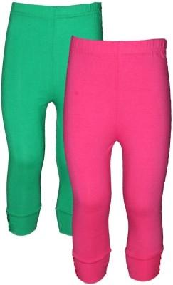 Jazzup Girl's Green, Pink Leggings