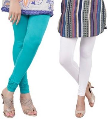 Bembee Women's White, Light Blue Leggings