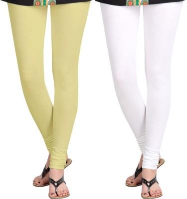 Roshni Creations Women's White, Beige Leggings
