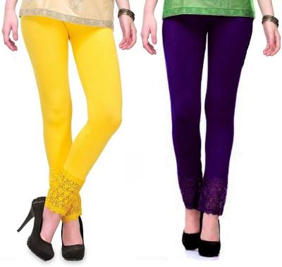 RobinRomeo Women's Purple, Yellow Leggings