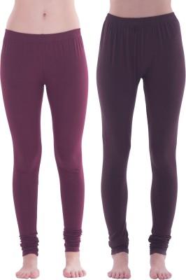 Spictex Girl's Purple, Brown Leggings
