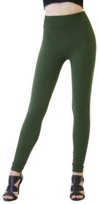 Designerkarts Women's Dark Green Leggings