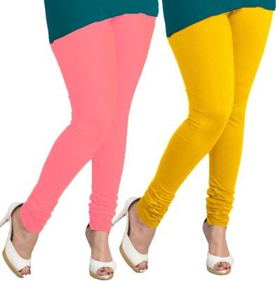 I-Diva Women's Pink, Yellow Leggings