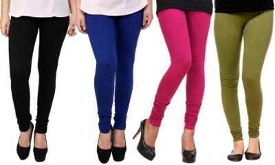 Dharamanjali Women's Black, Blue, Pink, Dark Green Leggings