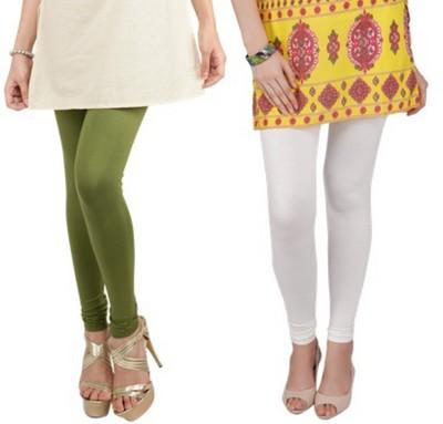 Bembee Women's Dark Green, White Leggings