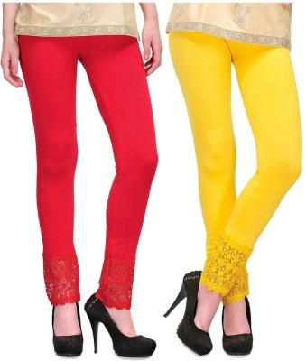MDS Jeans Women's Red, Yellow Leggings