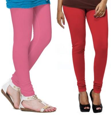 VP Vill Parko Women's Red, Pink Leggings