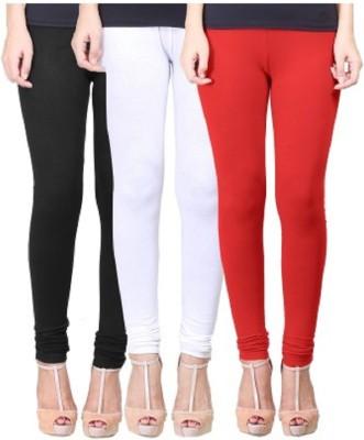 UMESH FASHION Women's Black, White, Red Leggings