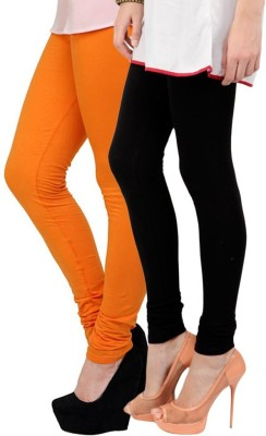 Butterfly Women's Black, Orange Leggings