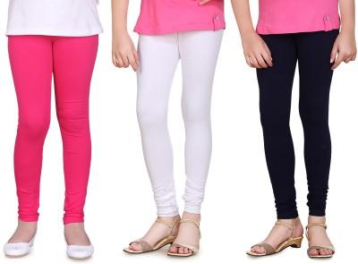 Sini Mini Girl's Pink, White, Blue Leggings