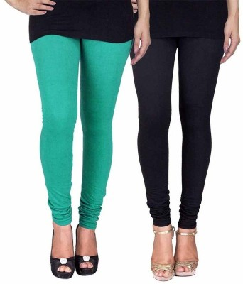 Ayesha Fashion Women's Green, Black Leggings