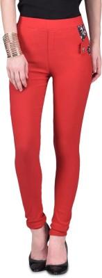 American-Elm Women's Red Jeggings