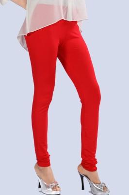 Scorpio Fashions Women's Red Leggings
