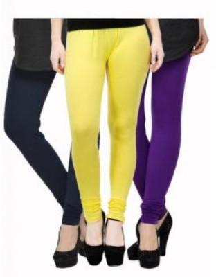 JUST CLIKK Women's Blue, Yellow, Purple Leggings