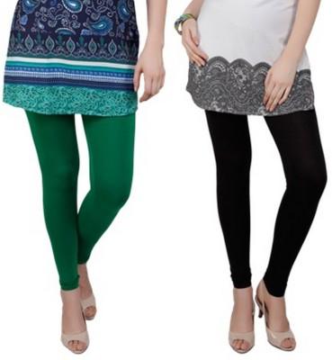 Bembee Women's Green, Black Leggings