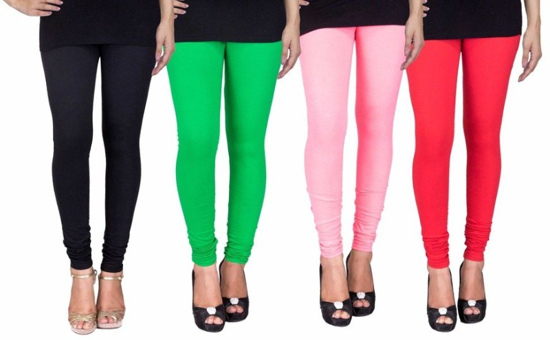C&S Shopping Gallery Women's Multicolor Leggings(Pack of 4)