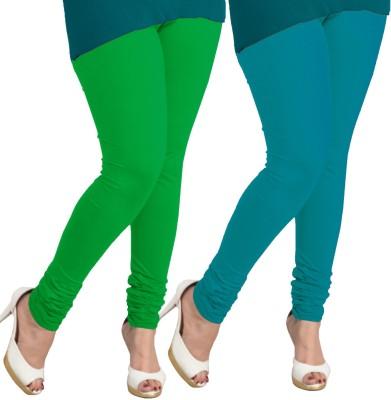 I-Diva Women's Green, Blue Leggings