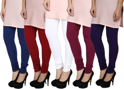 Fizzaro Women's Red, Blue, White, Blue, Purple Leggings