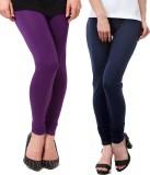 Famaya Women's Purple, Dark Blue Legging...
